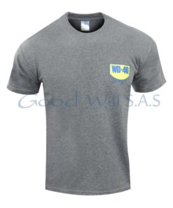 camiseta gris estampada al por mayor