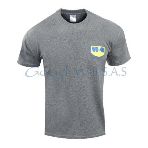 camiseta gris estampada al por mayor