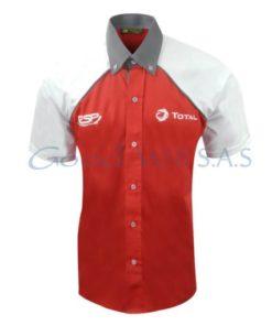 Camisa roja manga corta al por mayor