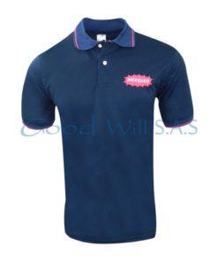 Camiseta polo azul personalizada