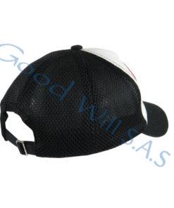 Gorra blanco negro con malla