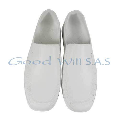 calzado blanco de trabajo