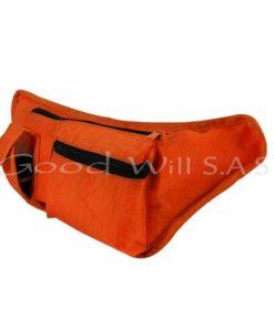 canguro naranja bolsillos