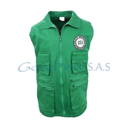 Chaleco bolsillos verde de dotación