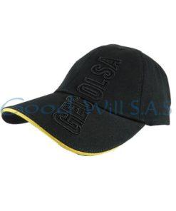 Gorra al por mayor negra bordada