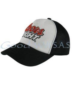 Gorra para evento blanca y negra