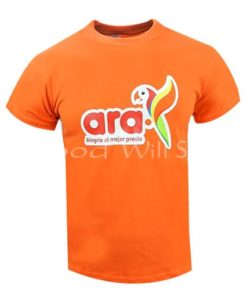 Camiseta naranja estampada al por mayor