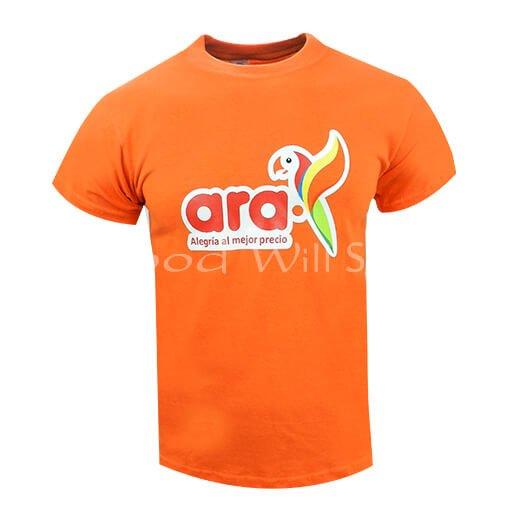 Camiseta naranja estampada al por mayor
