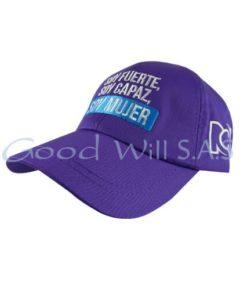 Gorra personalizada morada RCN