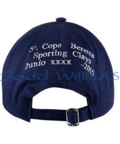 Gorra de dotación azul con hebilla al respaldo