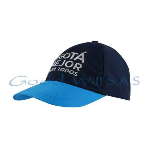 Gorra personalizada visera azul