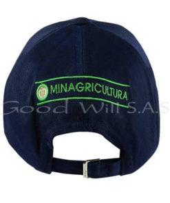Gorra personalizada con logo bordado posterior