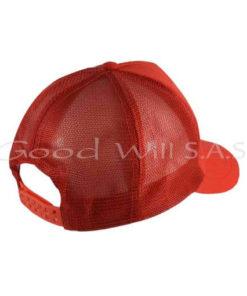 Gorra roja con malla