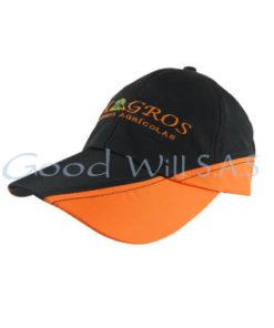 Gorra articulo promocional naranja negro