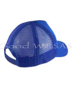 Cachucha de malla azul personalizada