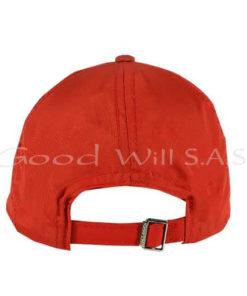 Gorra roja ajustable de dotación