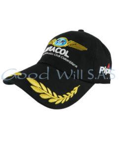 Gorra de dotación bordado hojas
