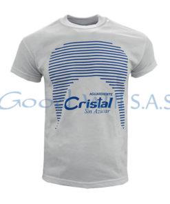 Camiseta blanca estampada