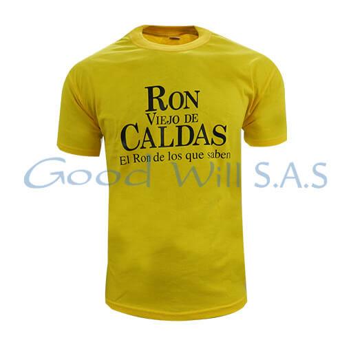 Camiseta amarilla personalizada