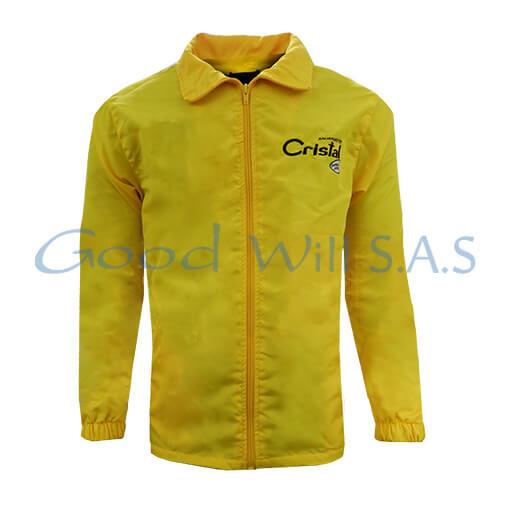Chaqueta de dotación personalizada amarilla