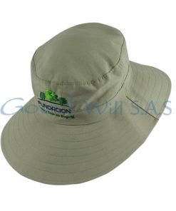 sombrero beige visera
