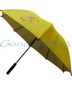 Sombrilla amarilla personalizada