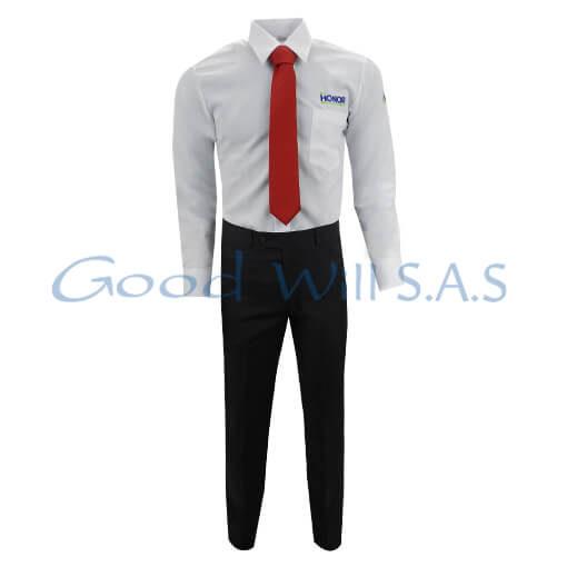 Uniforme de seguridad para dotación corbata roja